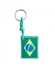 Chaveiro Emborrachado Bandeira do Brasil