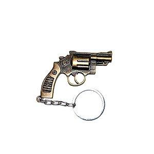 Chaveiro Revolver 38 Bronze