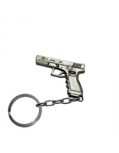 Chaveiro Pistola Glock - Cromado