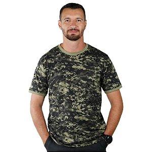 Camiseta Masculina Camuflada Digital Marpat Selva