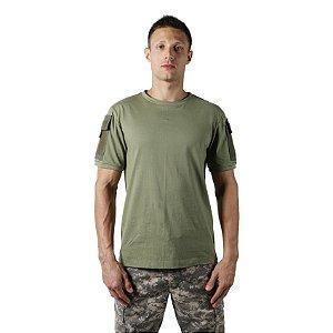 Camiseta T Shirt Tática Masculina Verde
