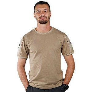 Camiseta T Shirt Tática Masculina Caqui
