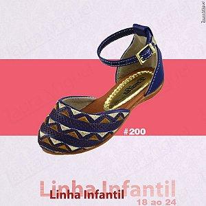 Sapatilha Infantil Azul com Bordado - 200