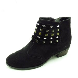 Bota Laura Miguel Preto com Hot-fix Frontais - 1210