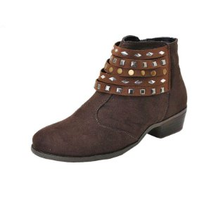 Bota Laura Miguel Café com Hot-fix Frontais - 1210