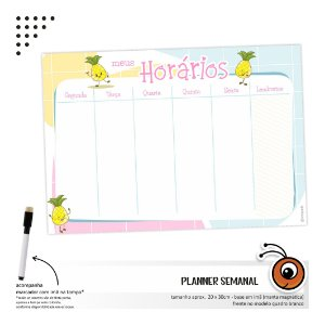 Planner Semanal - Abacaxi