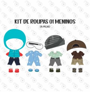 Kit 01 de Acessórios BONECOS - p/ Vestir