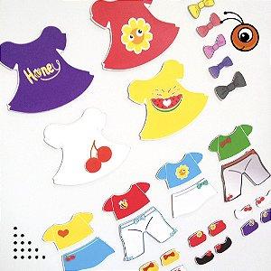 Kit 13 de Acessórios para Vestir com imãs - Bonecas