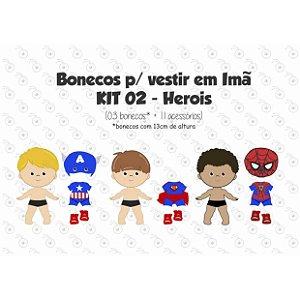 Especial Herois 02 - Kit Bonecos p/ Vestir