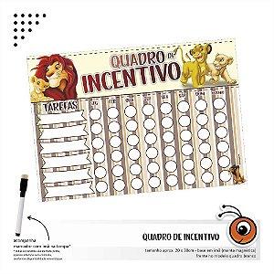 Quadro de Incentivo - Rei Leão