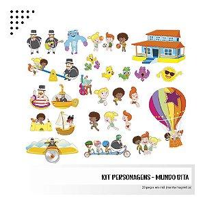 Kit - Mundo Bita - Personagens em imã