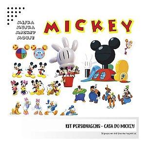 Kit - Casa do Mickey - Personagens em imã