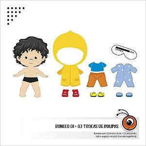 kits Bonecos + 3 trocas de roupa