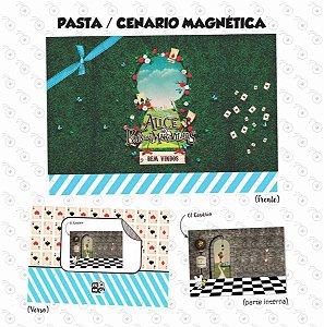 Pasta Cenário Magnética - Alice no País das Maravilhas