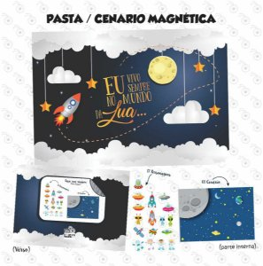 Pasta Cenário Magnética - Astronauta