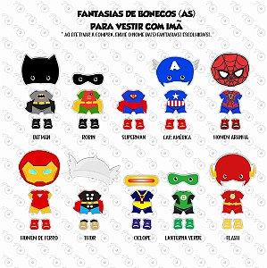 Fantasias de Boneco(a) para vestir com imã #1