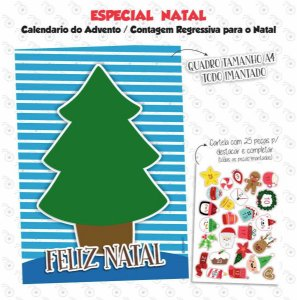 Calendario do Advento / Contagem Regressiva - ARVORE - Especial Natal