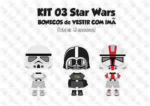 Kit 03 Fantasias para Vestir com imãs - Especial STAR WARS