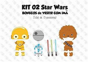 Kit 02 Fantasias para Vestir com imãs - Especial STAR WARS