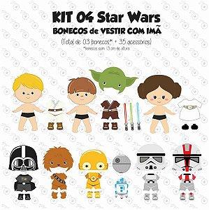 Kit 04 Bonecos para Vestir com imãs - Especial STAR WARS