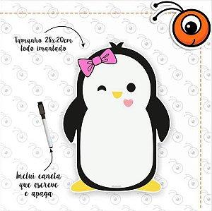 Lousa Magnética Anotações (Pinguim) + Caneta