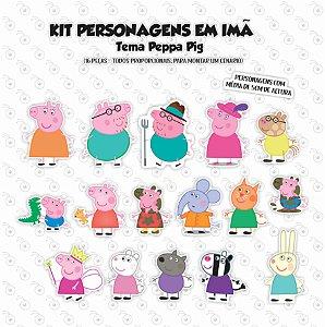 Kit - Família Pig - Personagens em imã