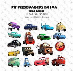 Kit - Carros - Personagens em imã