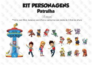 Kit - Patrulha Canina - Personagens em imã