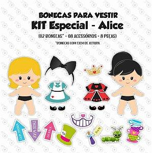 Especial ALICE - Kit Bonecas p/ Vestir