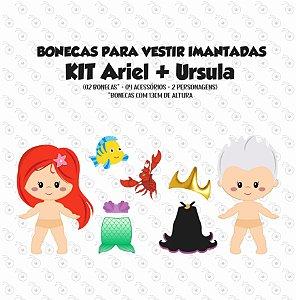 Especial ARIEL - Kit Bonecas p/ Vestir
