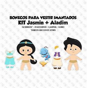 Especial ALADDIN e JASMIN - Kit Bonecos p/ Vestir