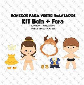 Especial BELA E FERA - Kit Bonecos p/ Vestir