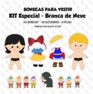Especial BRANCA DE NEVE - Kit Bonecos p/ Vestir