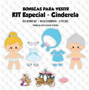 Especial CINDERELA - Kit Bonecas p/ Vestir