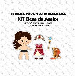 Especial ELENA DE AVALOR -  Kit Boneca p/ Vestir