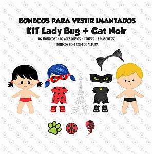 Especial Lady Bug - Kit Bonecos para Vestir