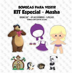 Especial Masha - Boneca p/ Vestir