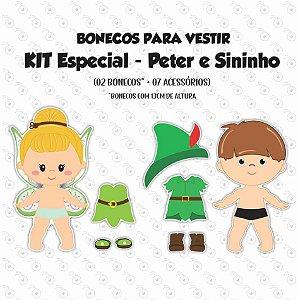 Especial SININHO + PETER PAN - Kit Bonecos p/ Vestir