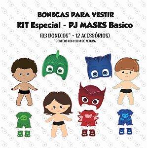 Kit PJ MASKS Basico - Boneco(a) de vestir