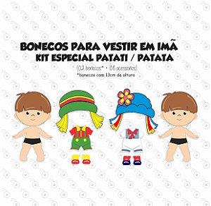 Especial PATATI PATATA - Kit Bonecas p/ Vestir