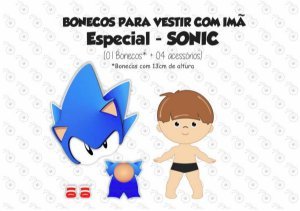 Especial SONIC -  Kit Boneco p/ Vestir