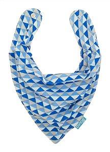 Babador Bandana Impermeável Triângulos Azul Clingo