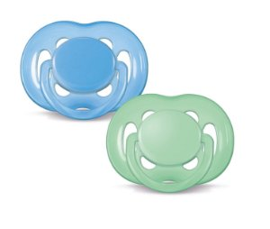 Chupeta BPA Free 6/18m Double Pack Azul Verde Philips Avent