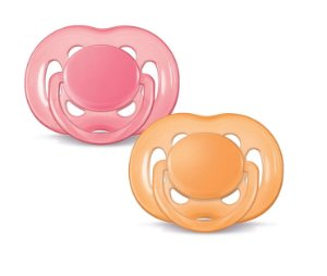 Chupeta BPA Free 6/18m Double Pack Rosa Laranja Philips Avent