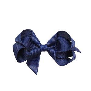 Laço em Gorgurão Royal Style Azul Marinho 7 cm Gumii
