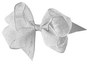 Laço Shabby Linen Branco 12 cm Gumii