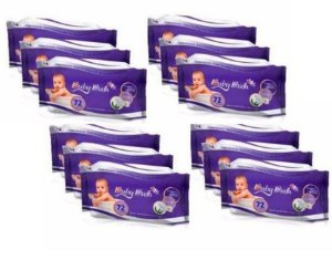 Kit com 12 Lenços Umedecidos Baby Bath