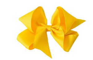 Laço em Gorgurão Royal Style Amarelo 12 cm Gumii