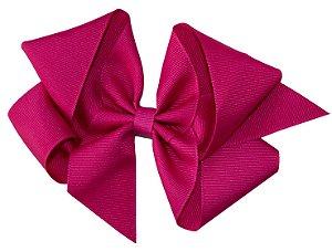 Laço em Gorgurão Royal Style Rosa Escuro 12 cm Gumii