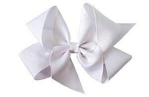 Laço em Gorgurão Royal Style Branco 12 cm Gumii